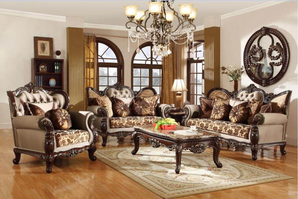 New Design Lounge Suite Luxury Living Room Classic Wooden