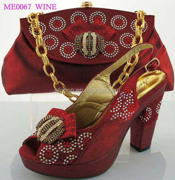 Me0067 Wine Whoel 2017 Italian Matching Shoes And Bags In China Fashion Elegant Match