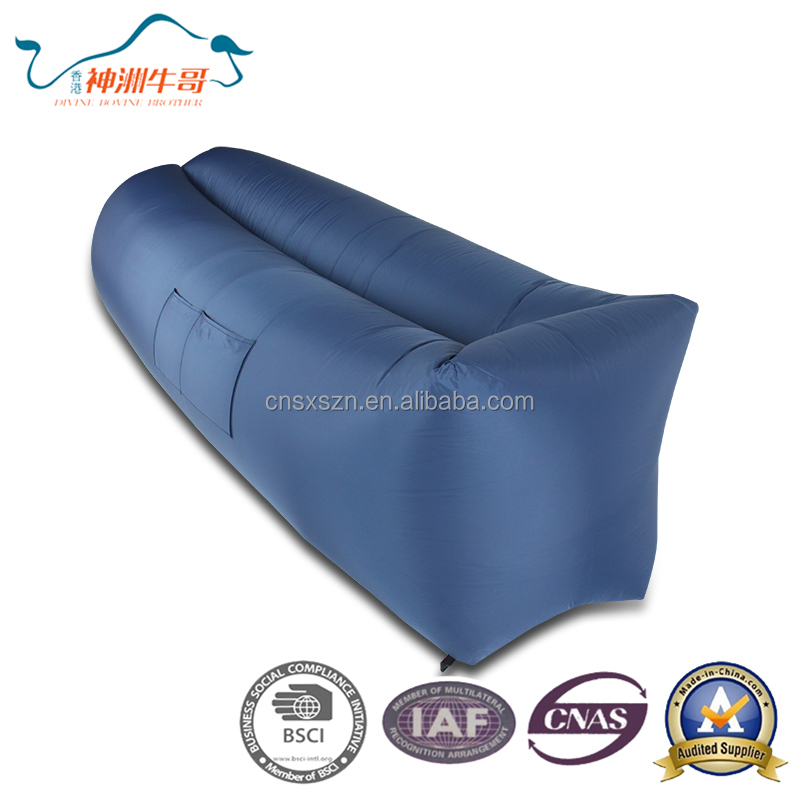 2017 Inflatable lounger outdoor folding sleeping lazy bag, inflatable lazy sleeping bag