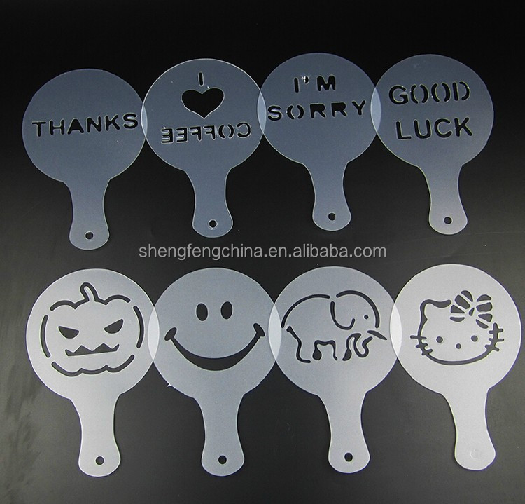 food grade plastic coffee stencil for Halloween