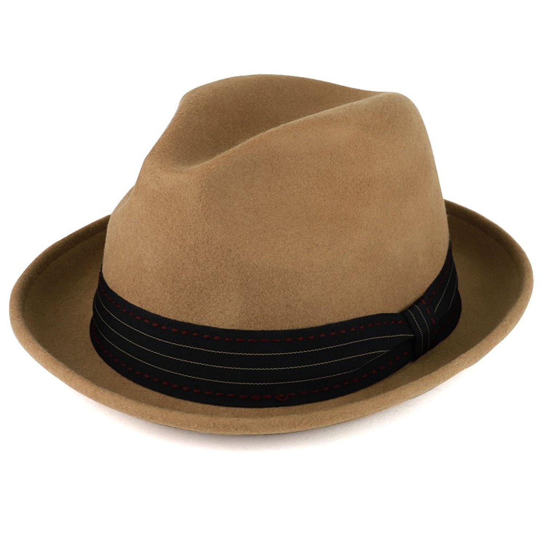 9691ce56fc5b6 XXL Oversized Stylish Basic Stingy Straw Fedora Hat. 34.99. null. Get  Quotations · XXL Oversize Wool Felt Pinch Fedora Hat with Satin Band