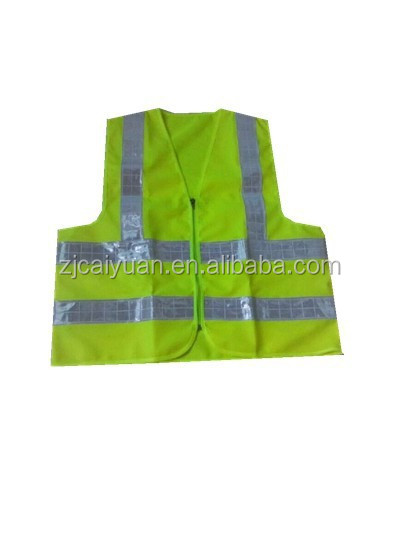 Reflective Safety Vest with high reflective PVC tape to keep people working safety outside
