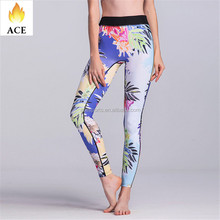 custom supplex yoga leggings for women sublimation printed yoga leggings