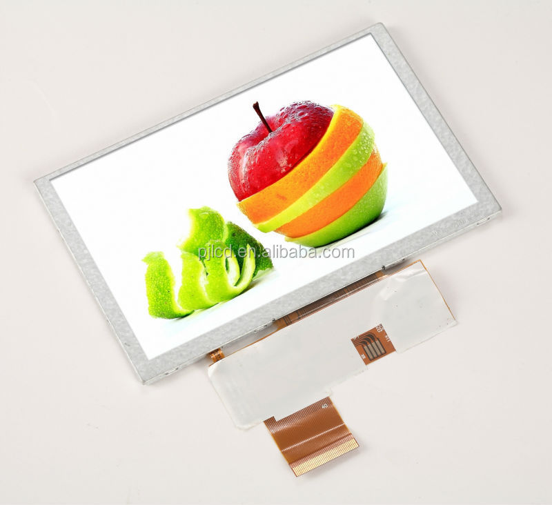 4:3 format 5 inch color TFT LCD Display 800x480(PJT500C01H29-300P40N)
