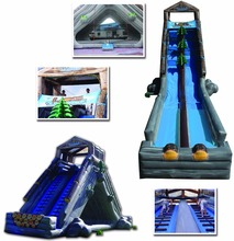 Log Jammer Extreme,90' Inflatable Water Slide With Jumper Log Jammer Extreme
