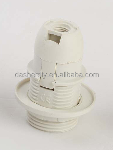 E27 plastic slef-lock lampholder VD-613 half threading body