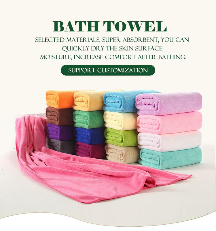 Personalizado forte absorção de água touca de banho de microfibra toalha de  banho envoltório 5ee165704ea