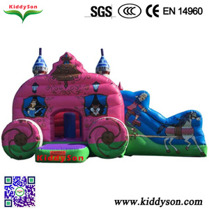 Children games play Inflatable jumping house with one slide,Inflatable bouncer for kids play