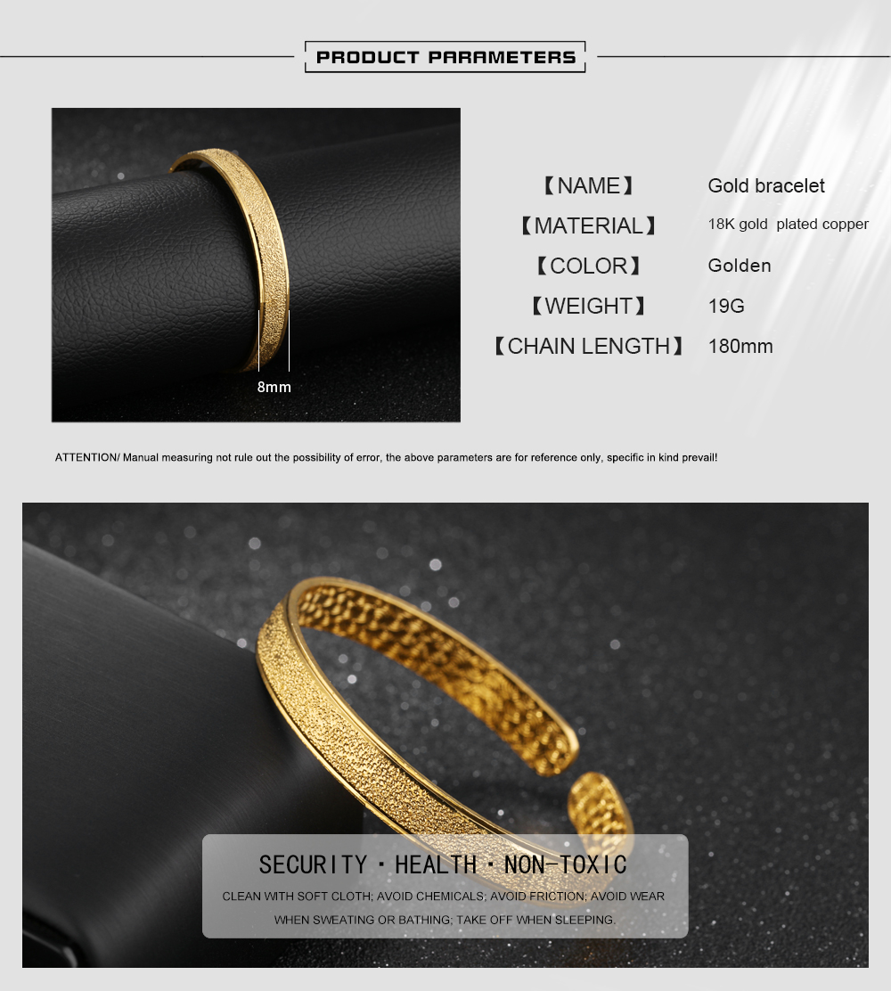China Supplier Latest Design Girls 1 Gram Open Gold Bangles