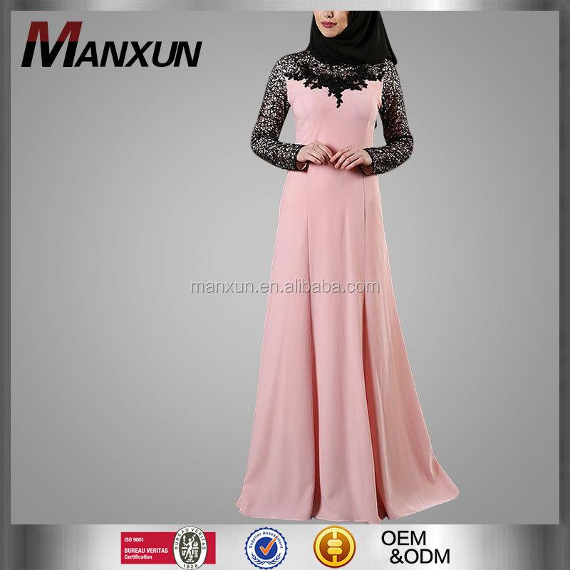5b7a11ca9f92 Islamic Clothing Casual Style And Adults Age Group Modest Models Turkish  Muslim Dress Girl Fashion Abaya Black Lace Kebaya