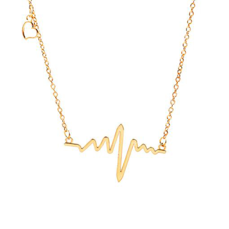 XL0200 JN wholesale gold plated fashion heart beat necklace fashion accessories latest gold necklace designs for women jewelry