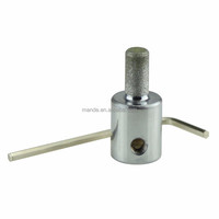 MGB14 Diamond Grinder Bit Chromeplated for stained glass and ceramic tile