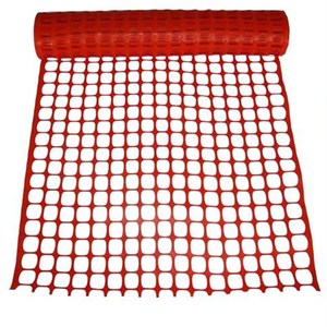 Orange HDPE Plastic Mesh orange-red plastic safety fence for warning