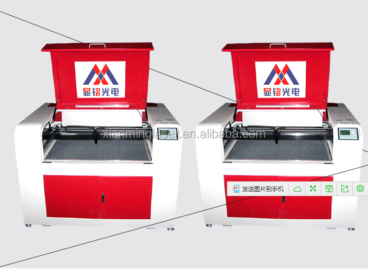manufacturer direct sale 6090 laser engraving machine with RD control system