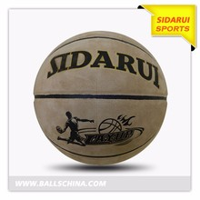 High quality natural leather factory manufacturer basketball ball