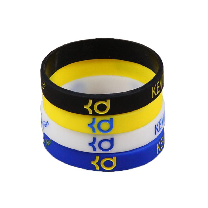 Custom hip-hop wristband strap slide motion silicone basketball bracelet rubber ring tide men Bracelet