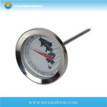 custom promotional scale metal bbq thermometer