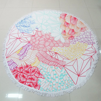 Hotel 100 Cotton Printed Round Beach Towels Whole Terrytowel