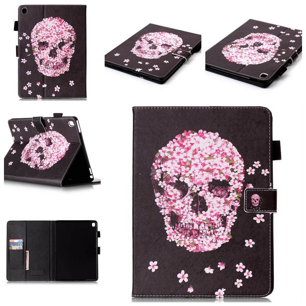 Skull Design wallet stand case for iPad Pro 9.7 inch, Tablet leather case for iPad Pro 9.7 inch