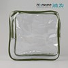 waterproof zipper clear pvc plastic packaging bag for blanket