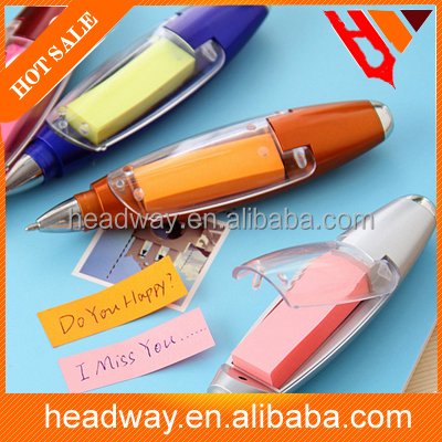 multi-functional best cheap ballpoint pen with string and sticky note