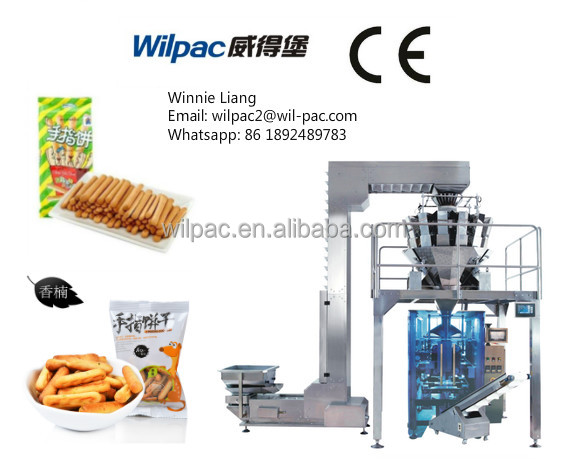 Full automatic electrical weigher packing machine For lady fingers biscuits