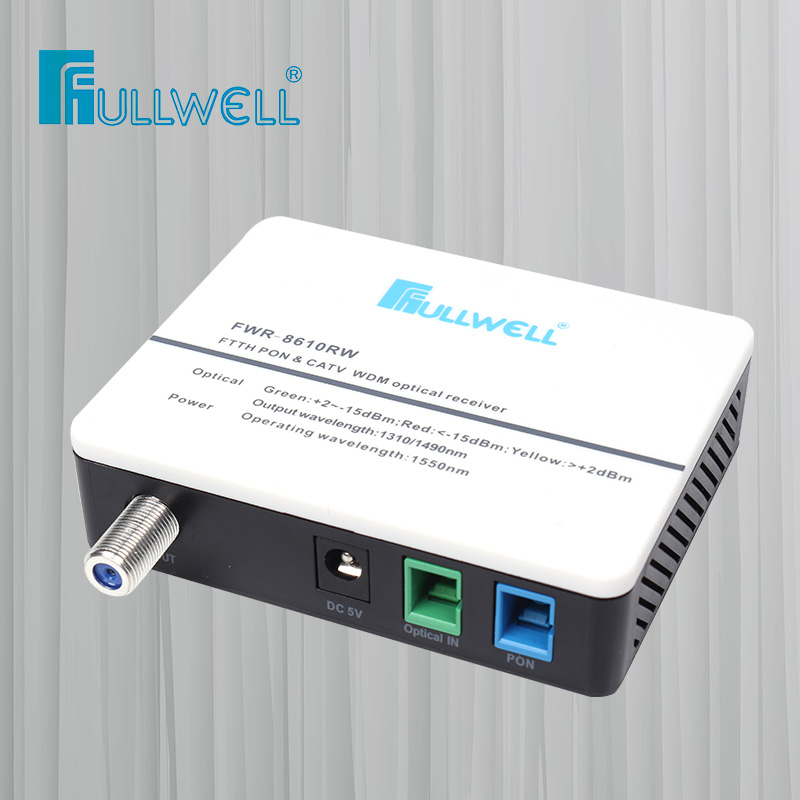 Fullwell 1 พอร์ต AGC WDM FTTH CATV Mini Optical Receiver Node