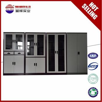 2 door disassembly steel cupboard design / double door metal filing 2 door metal file cabinet