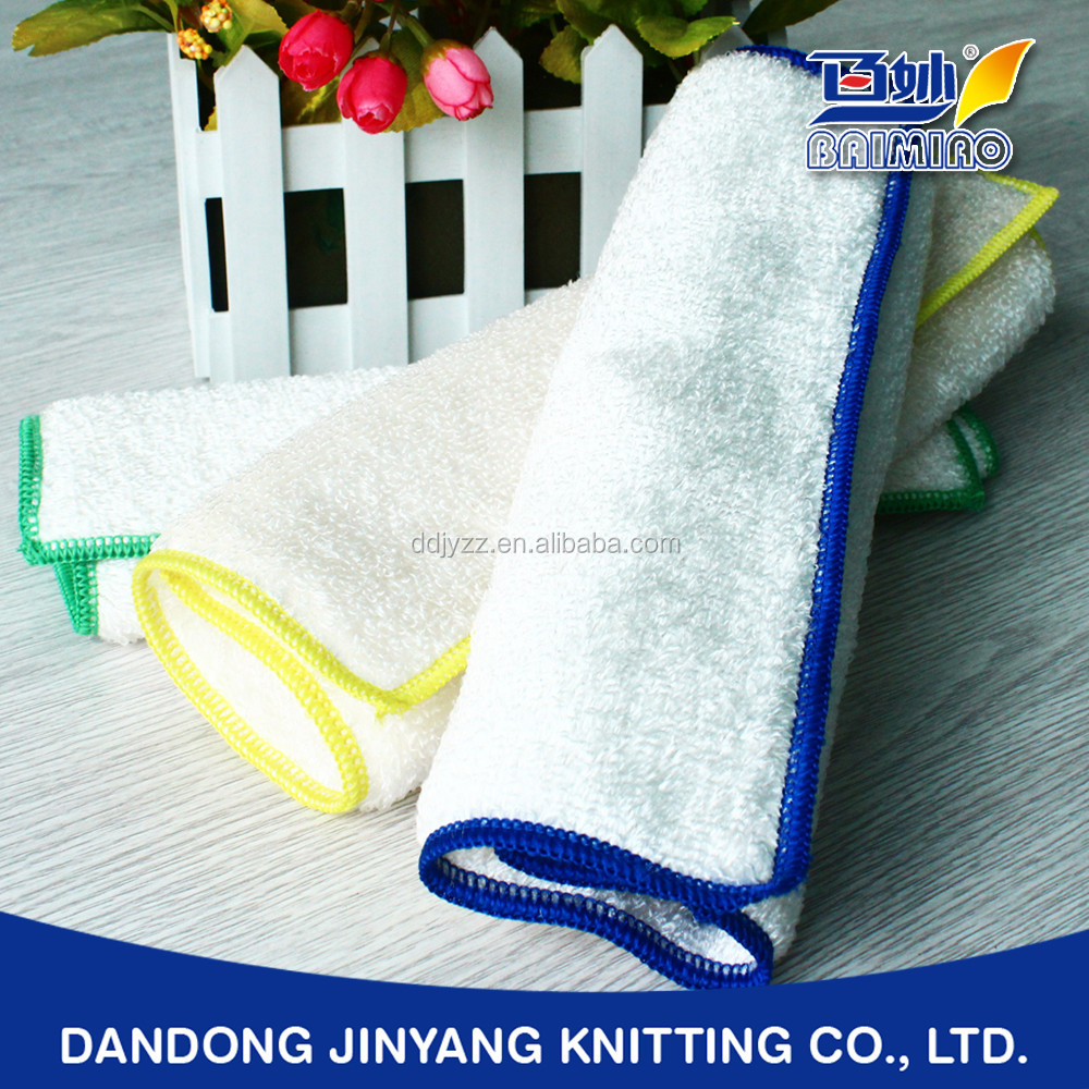 dish wiping bamboo fiber private custom logo oil absorbent cloth