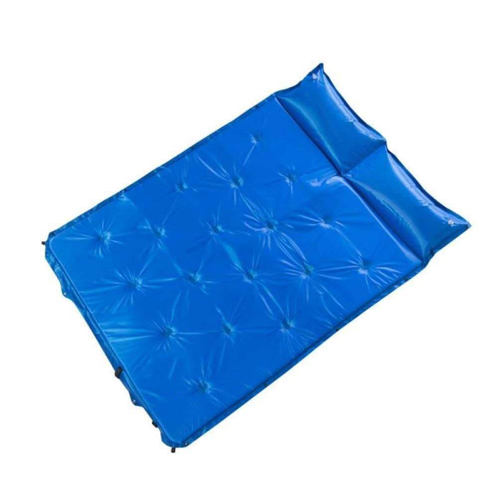 Spring And Summer Outdoor Automatic Inflatable Sleeping Pad Moisture-Proof Tent Air Bed Thicken Double Person Sleeping Pad Self-Inflating Mats For Camping,Blue