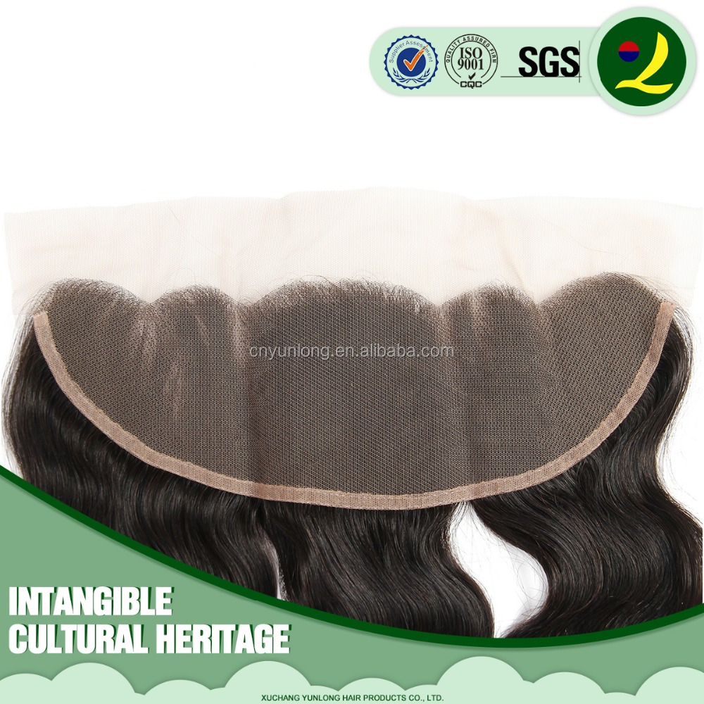 Wholesale 100% virgin human hair full lace frontal closures 13x4 ear to ear lace frontal with baby hair 18inch natural <strong>black</strong>