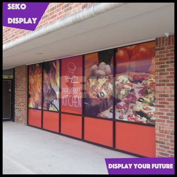 Decorative Store Window Stickers Removable Glass Graphics