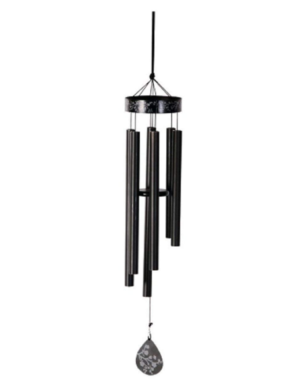 BESTChoiceForYou Hand Tuned Renewal Wind Chimes 21 in L x 4-1/2 in W Aluminum - Chimes Garden Outdoor Patio Aluminum Feng Shui Grace Terrace Bamboo Carillon Triple Diamond Line Tone