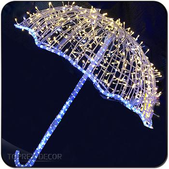 Hanging Christmas Decorations Light Street Motif Led Umbrella