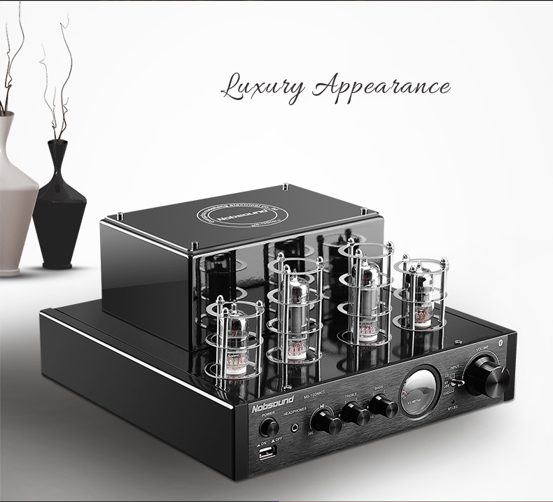 100W NPS MS-10D MKII Hifi Vaccum Tube Amplifier USB/Blue tooth Home Audio Amplifier 25W+25W 220v/50HZ amplificador BT amp