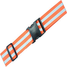 high visibility orange adjustable reflective safety sash for running