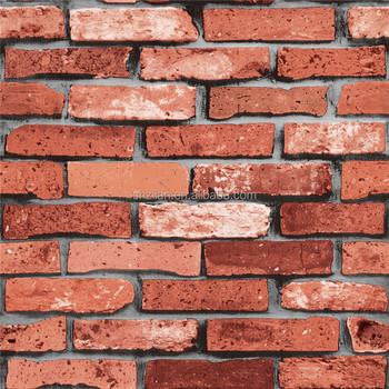 Design Mur Papier Rouge Brique 3d Nom Papier Peint Buy 3d Nom