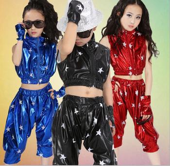 Children Gilrs Top And Pants Jazz Dance Dress Hip Hop Wear Buy Hip Hop Wear Kids Jazz Dance Dress Girl Hip Hop Dress Product On Alibaba Com