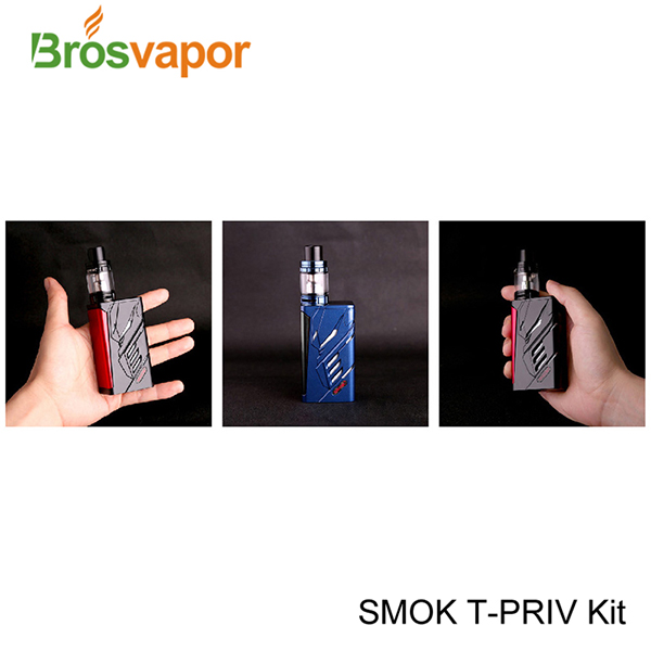 Powerful 220W Smok T-Priv Kit with TFV8 big baby tank, Wholesale Smok T-Priv kit with Dual Cells, Smok T-Priv kit