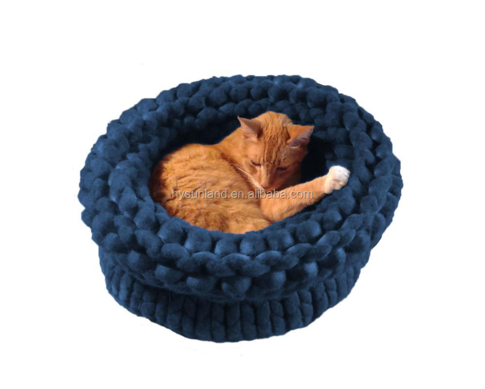 Factory Price Fashionable Soft Ky1522 Crochet Dog House Merino