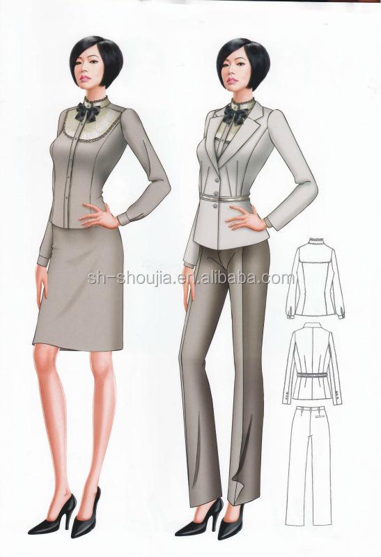 Fashion business suits for women 2014 lady office suit for Office design uniform