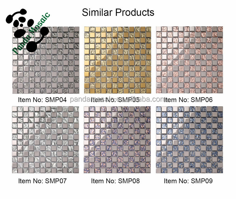 silver square cheap wall tiles opaque glass mosaic bathroom floors tiles smp01