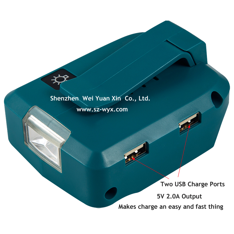 ADP05 USB Charger Adapter Akku Converter for 14.4V-18V LXT Li-ion Battery Packs