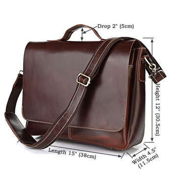 7108r Dropshipping Multifunctional Laptop Brifcase Leather Office Bags For Men