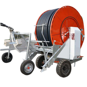 Hot Sale Travelling Irrigator for farm hose irrigation reels machine with boom for large Fram Land