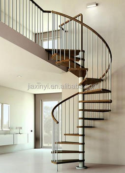 Prefabricated Stairs Steel Wood Spiral Staircase Prices