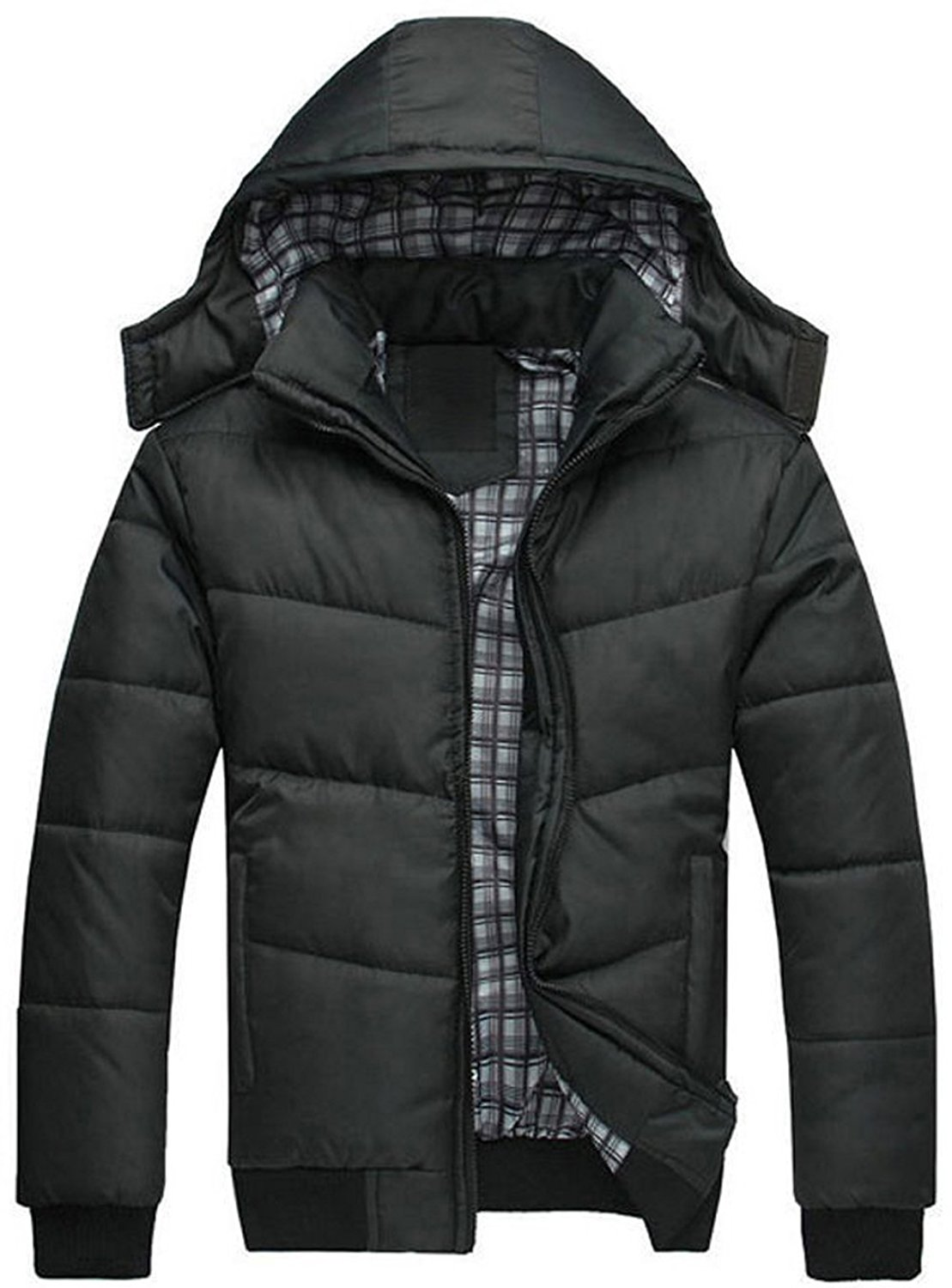 WSPLYSPJY Mens Lightweight Water-Resistant Packable Insulated Coat Down Jacket