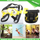 Nylon suspension strap training, gym suspension trainer straps exercises