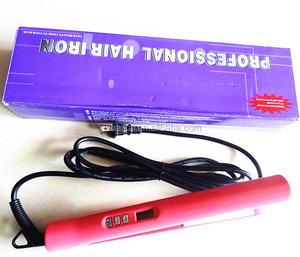 Pink ceramic hair straightener