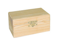 Custom Small Plain Wooden Treasure Chest Gift Boxes